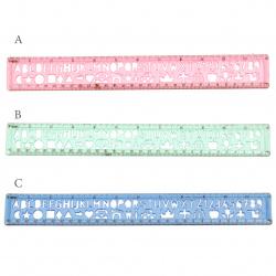 Plastic line with templates 30 cm
