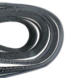 Ленти за квилинг (хартия 80 гр) 3 мм/39 см - тъмно синя - 120 бр