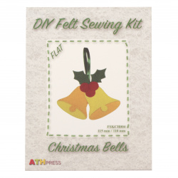 DIY Christmas bells Decoration 115x110 mm