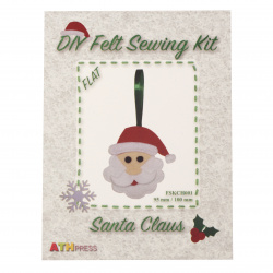 DIY Santa Claus 95x100 mm
