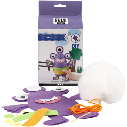 Do-it-yourself set funny friend Monster - Topsy purple 24x21cm Creative toy