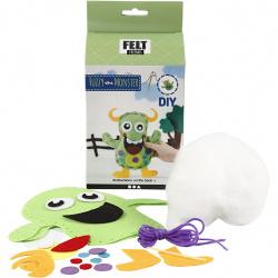 DIY set fun doll Monster - Fuzzy green 21.5x18cm Creative toy