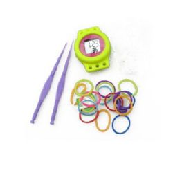 Loom Rubber Bands Kit with Round Watch, Mixed Colors