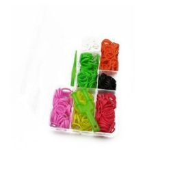 Loom Rubber Bands Kit with Knitting Tools, Mixed Colors, 18mm, 350 pcs