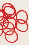 Loom Rubber Bands Knitting Set - 85mm Hook, 12 S-Brackets & ~ 270mm 18mm Red