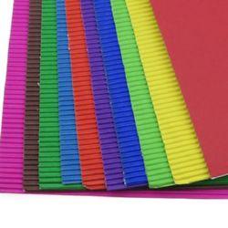 Картон гофриран за апликация А4 20x30 см -10 броя / 10 цвята