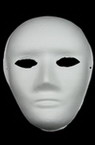 White mask for decoration made of pressed cardboard Venetian 1 -24x18 cm
