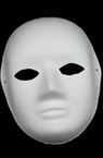 White mask for decoration made of cardboard Venetian 2 -22x18 cm