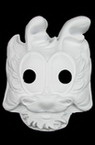 White mask for decoration of pressed cardboard dragon -27x22 cm