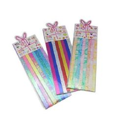 Colored Paper Strips for Decoration & Origami , 240x10mm, 10 colors, 40 pcs