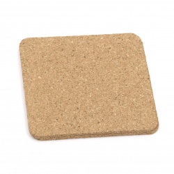 Set of cork substrate square 95x95x3 mm -6 pieces