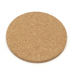 Set of cork pads round 95x3 mm -6 pieces