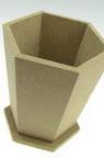 Hexagonal MDF vase / pot / pencil BOX for decoration 12x12 cm