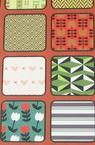 Hârtie de design pentru cartea de scrapbooking (22,5x30,4 cm) 24 modele x 1 coală (46,5x31 cm)