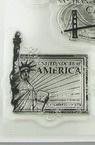 Silicon Stamp, Decoration, America 9.2x14.4 cm