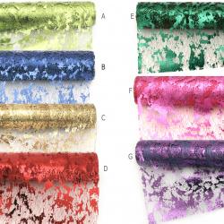 Δίχτυ για διακόσμηση με μεταλλιζέ 48x450 cm διάφορα χρώματα