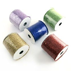 Spider Web Roll glitter and sequins 80 mm ASSORTED - 9 meters
