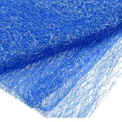Plasa tip păianjen cu fir argintiu 80x170 cm albastru