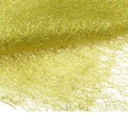 Spider Web Net with Gold Thread Cheap DIY Crafts Party Halloween 80x170 cm yellow