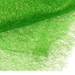 Мрежа тип паяжина със златна нишка 80x170 см зелена