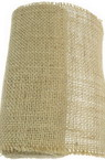 Natural Jute Burlap Ribbon Base for Application DIY Crafts Decorations, Embroidery 16x275 cm