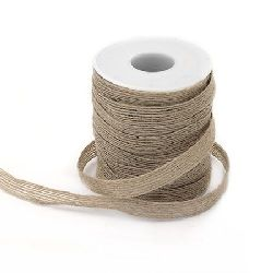 Burlap ribbon 10 mm x 19 meters
