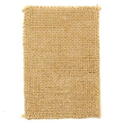 Natural Jute Burlap Ribbon Base for Application DIY Crafts Decorations, Embroidery 9x14 cm.