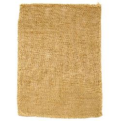 Natural Jute Burlap Ribbon Base for Application DIY Crafts Decorations, Embroidery 19x29 cm.