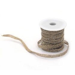 Burlap ribbon 6 mm x 17.5 meters