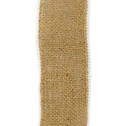 Burlap Ribbon Base for Application with pearls DIY Crafts Decorations, Embroidery 6x200 cm.