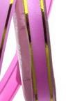 Лента панделка 12 мм розова със злато -11 метра