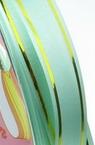 Лента панделка 12 мм зелена със злато -11 метра