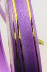 Лента панделка 12 мм лилава със злато -11 метра