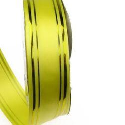 Лента панделка 32 мм жълта със злато -11 метра