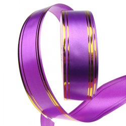 32mm purple ribbon with gold -11 meters