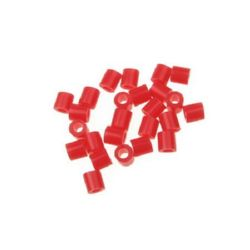 Acylic Mosaic beads, figurines and bracelets 5x5 mm solid red light -11 grams ~ 190 pieces