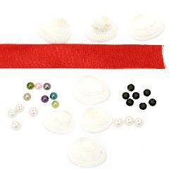 Paper craft embellishments set