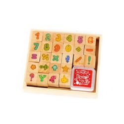 Wooden stamps set  14 x 14 mm