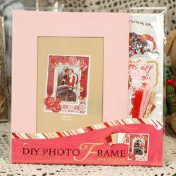 Комплект материали за декорация и рамка за снимка 16.4x21.5 см Love