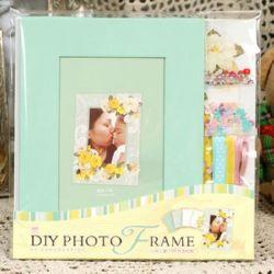 Комплект материали за декорация и рамка за снимка 16.4x21.5 см Flowers