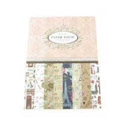 Дизайнерска хартия за скрапбукинг книга (22.5x30.4 см) 8 дизайна x 2 листа (30.5x45 см)