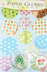 Set for making and decoration of 10 paper balls -2 large and 8 small