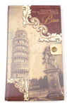 Decoration Notepad with vintage Pisa button 11x18.5 cm ± 70 sheets