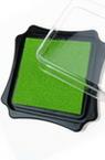 Tampon cu cerneală de pigment 6,2x2,1 cm culoare verde deschis