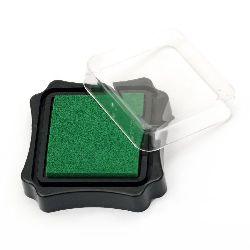 Tampon de cerneală pigmentă 6.2x2.1 cm verde