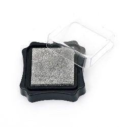 Pigment ink pad 6.2x2.1 cm silver color
