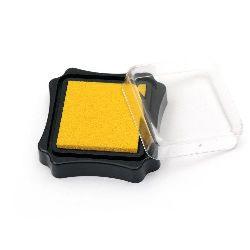 Тампон с пигментно мастило 6.2x2.1 см цвят жълт тъмно