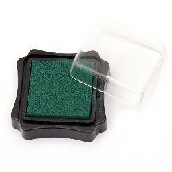 Pigment cu cerneală de pigment 6.2x2.1 cm culoare verde închis