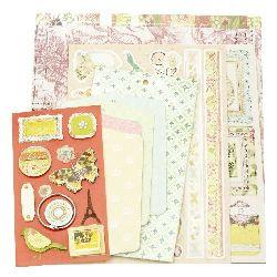 DIY Scrapbook Album Decoration 4 sheets 9.3x12.3cm For You