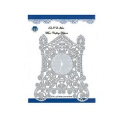 Metal paper cutting template 11.9 x 14.5 cm